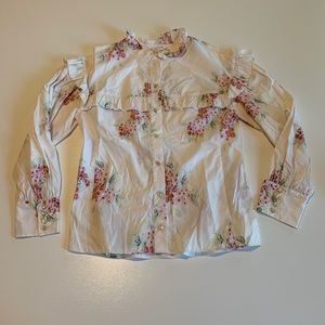 NWT Rebecca Taylor Floral Blouse Size 2